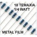 0-1ΚΩ 1/4 1% Αντίσταση metal film